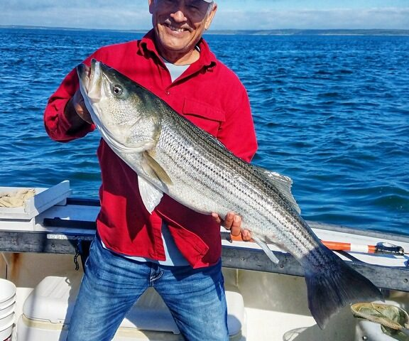 Fishing for Stripers Off Cape Cod