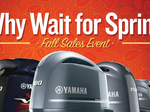 Yamaha- Why Wait for Spring Fall Sales Event